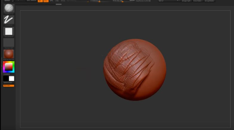 experimenting with modelling zbrush