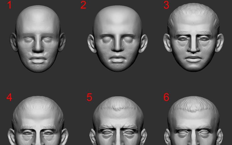 head portraits 3d model shapes