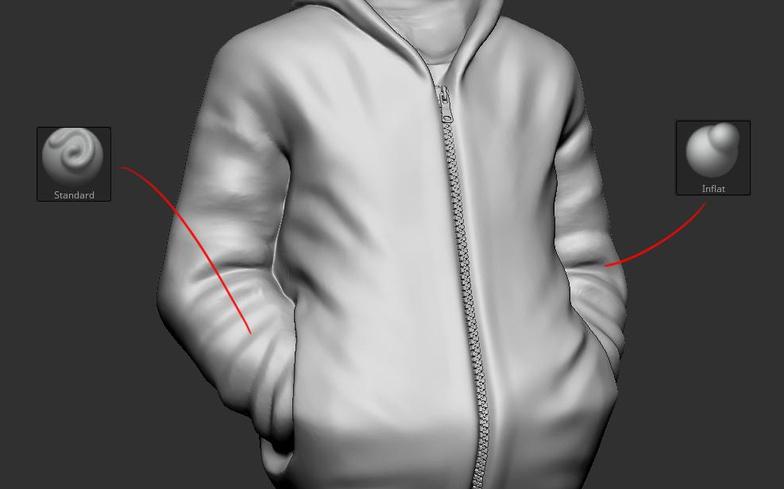 zbrush sculpt male self portrait model