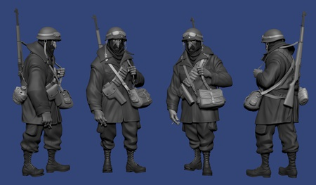 unwrapping UVs exporting assets sculpting soldier