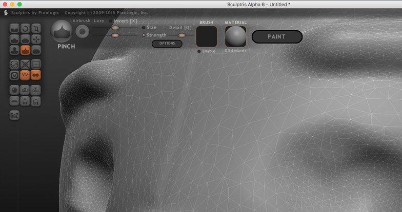 digital sculpting facial expressions