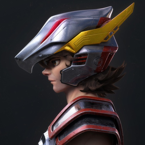 saint seiya male character model