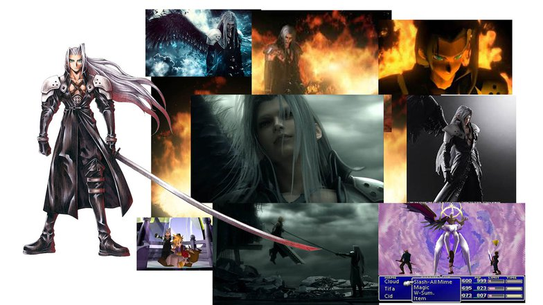 sephiroth, final fantasy,  7, animation