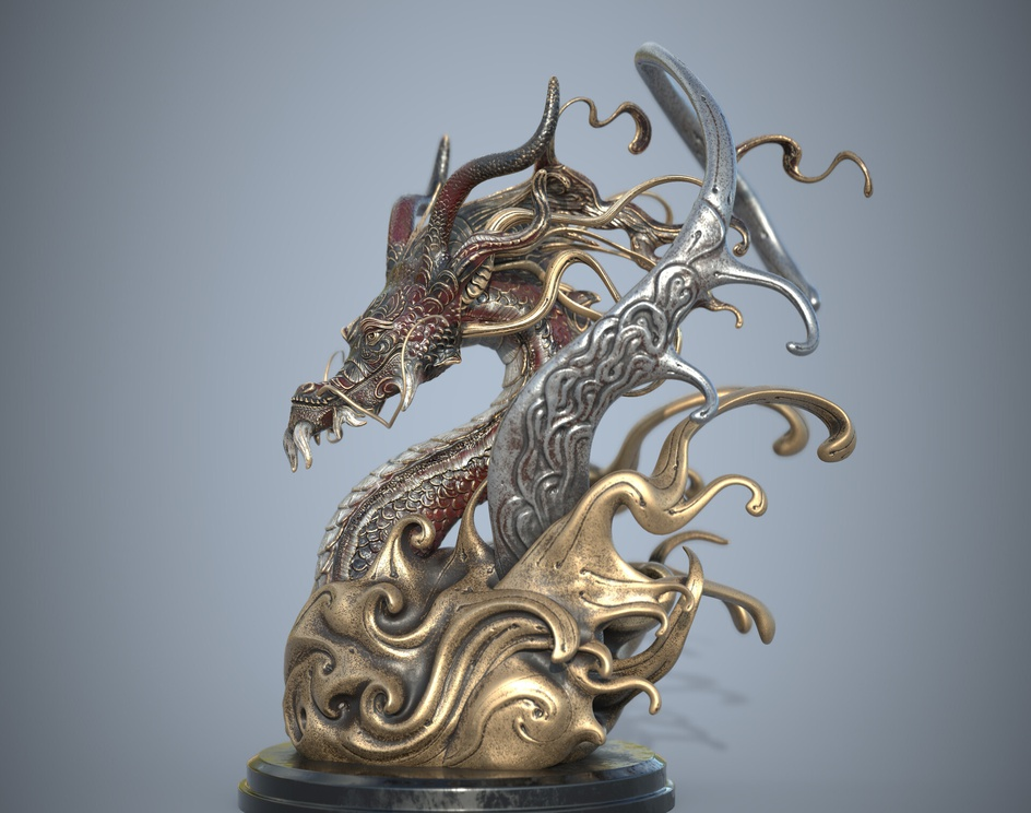 Dragon statueby Sergey Spaschenko