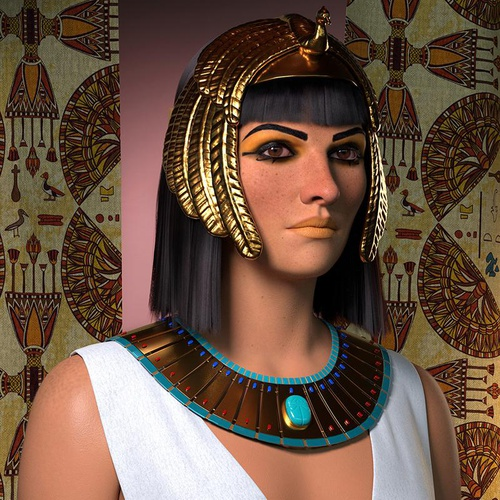 Egyptian queen Sha-Amun-en-su tribute 3d art