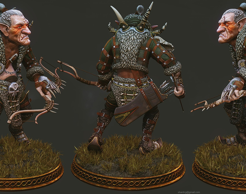 Goblin Archer Fantasy War Character Modeling Contest by Mixamo, 2012by SharDCG