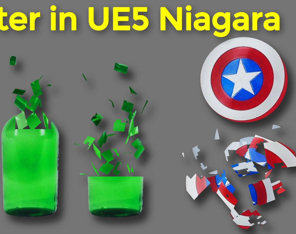 Shatter in UE5 Niagara Tutorial   Download Project Filesby Ashif Ali