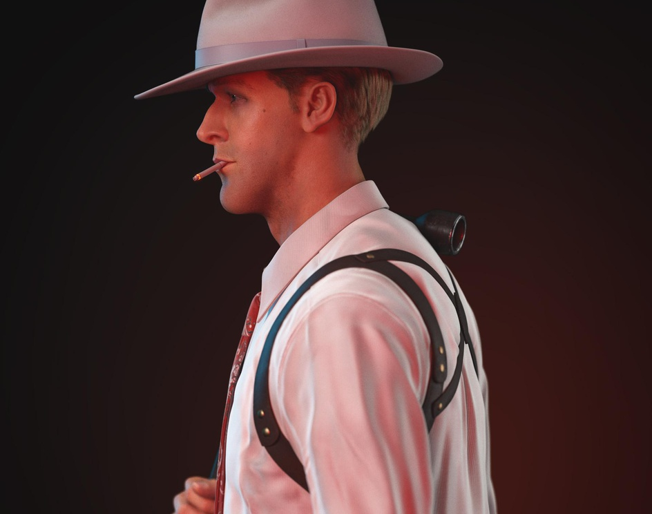 Jerry Wooters | Ryan Gosling in Gangster Squadby Nicoló Granese