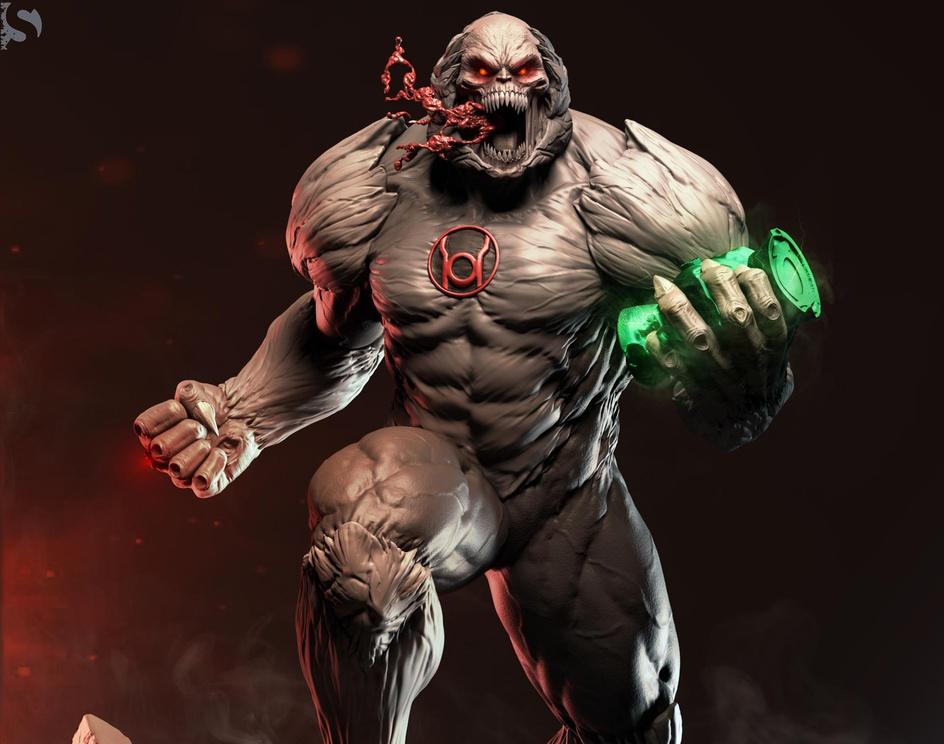 ATROCITUS The Red-Lantern_FanArtby Subhratim Dhar
