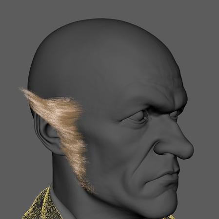 sideburns model  lemony snicket 3d character design fantasy book
