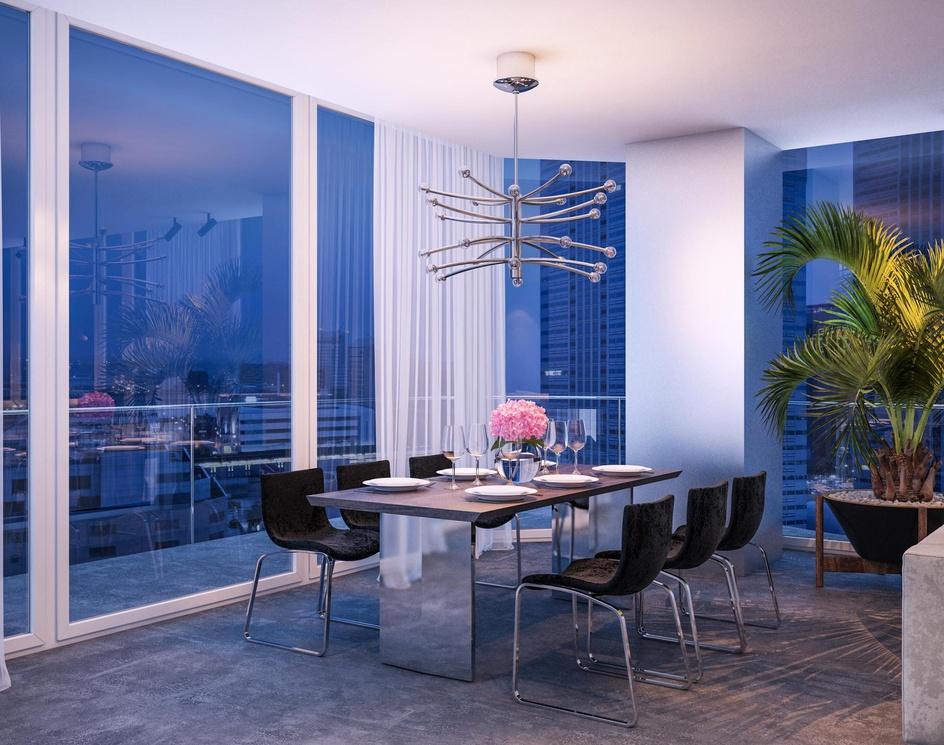 Modern studio with panoramic windowsby Archviz.Studio