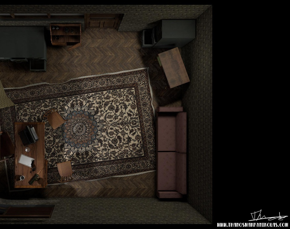 Developing environment/ mood/ storytelling in games. [the noir case]by Thanos Makrynikolas