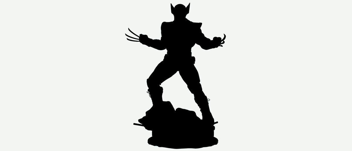 wolverine marvel silhouette design