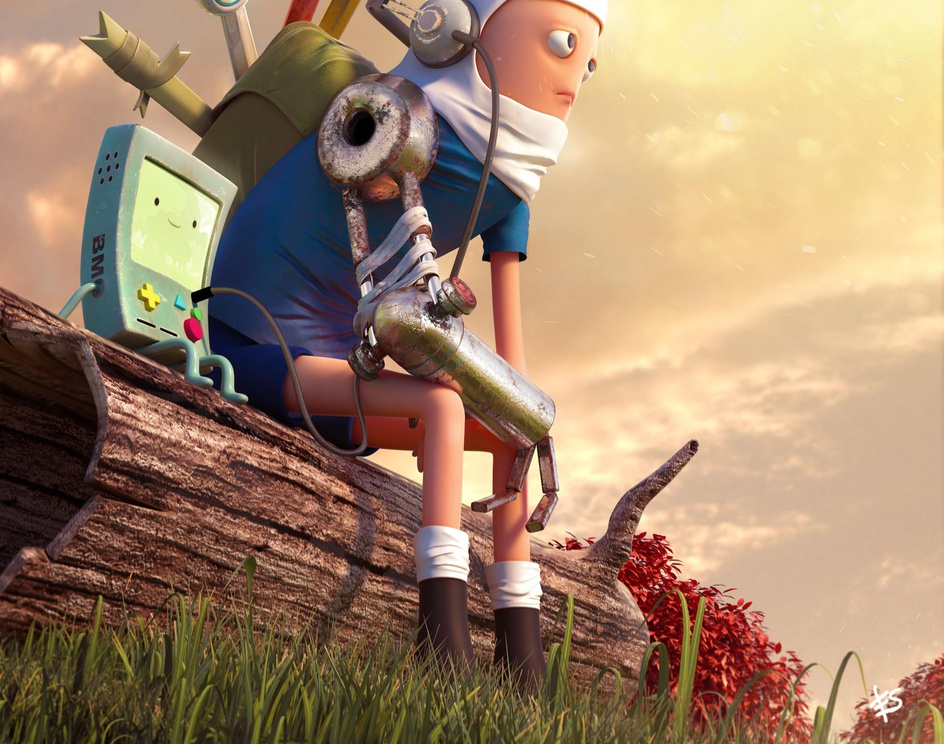 Adventure time - Finn and Beemoby Erik silva