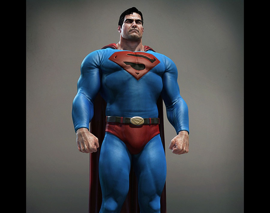 'Aged Superman'by bad_koala