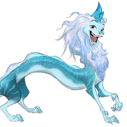 raya and the last dragon disney animation 2d concept sketch design