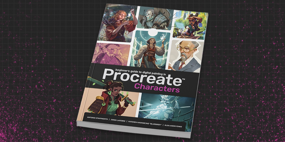 procreate character book 3dtotal publishing design illustration 2d