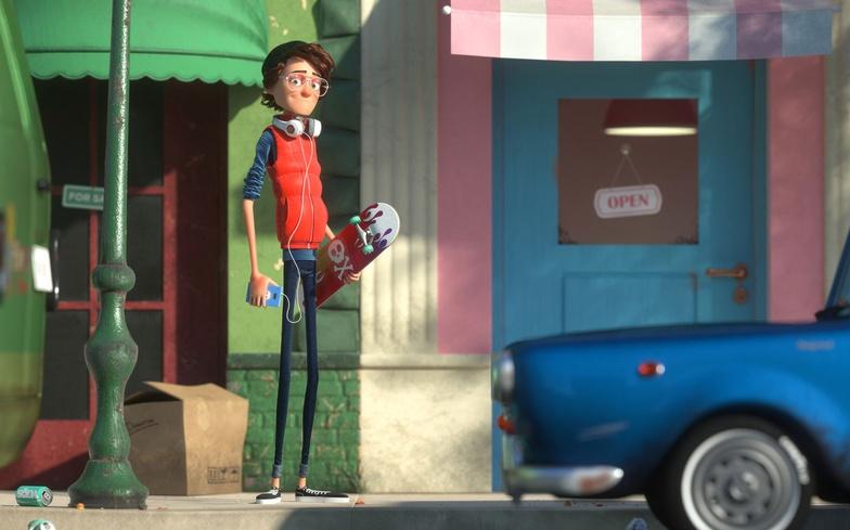 skateboard, skateboarder, street, 3d, character design