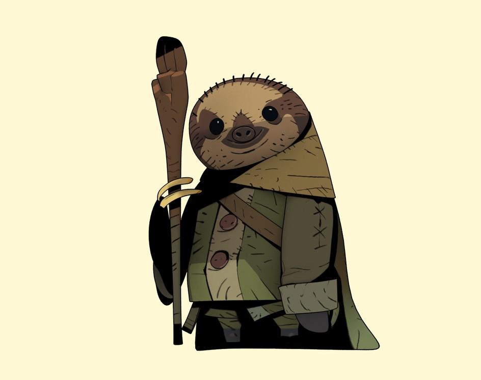 3D Mage Slothby Arthur Sarah
