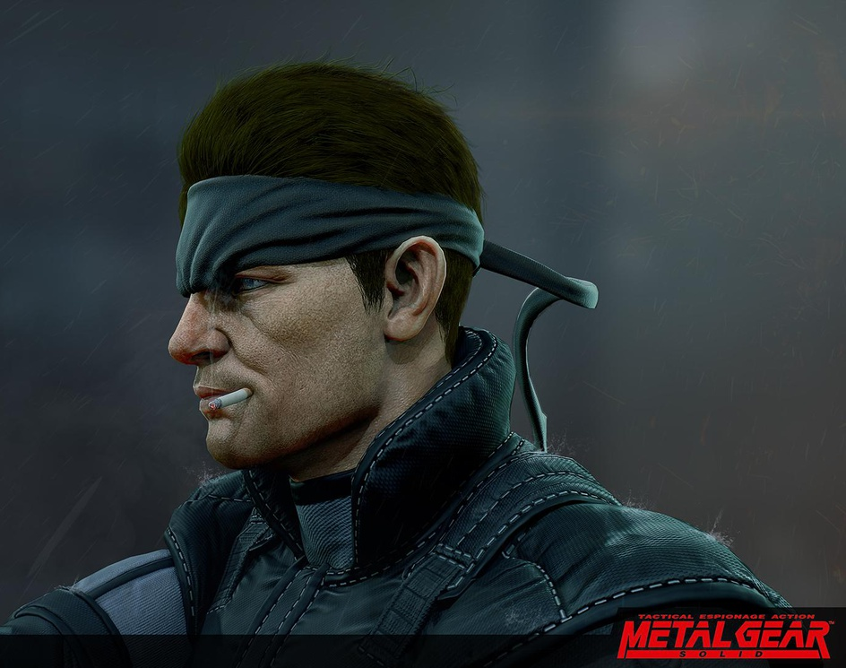 Solid Snake Metal Gear Solid Fan Art By Kidd 555 3dtotal