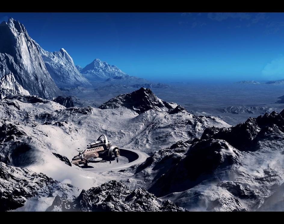 snow mountainby Akira Ogawa