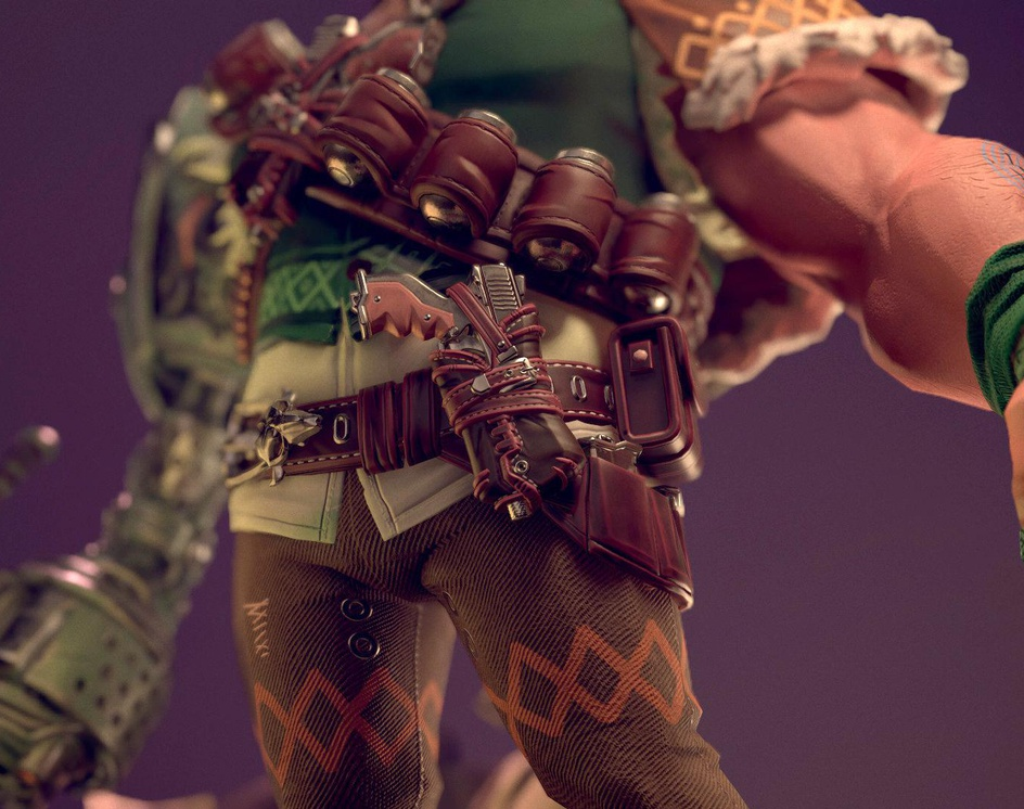Minotaur Tank Wild West 3D character artby Somen_Cg