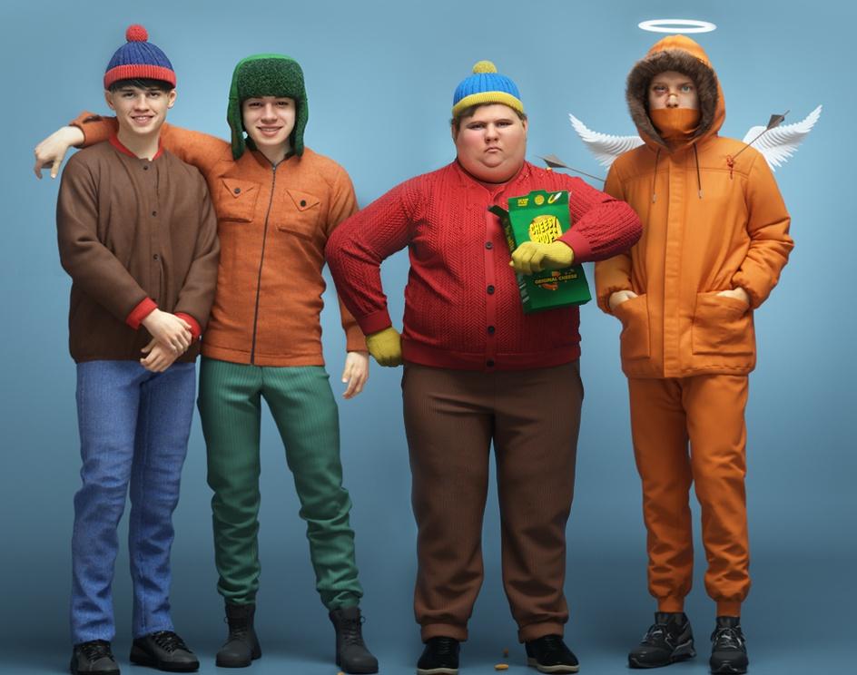 South Park Characters Reimaginedby MrDavidsArt