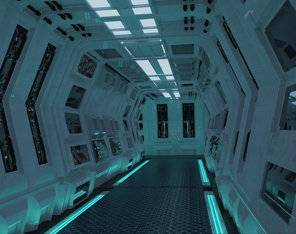 Spaceship corridorby Fadhel