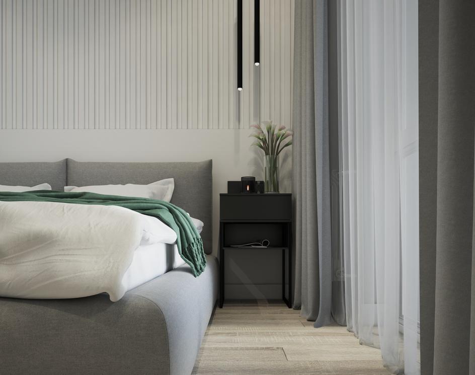 Bedroom in minimalism styleby Archviz.Studio