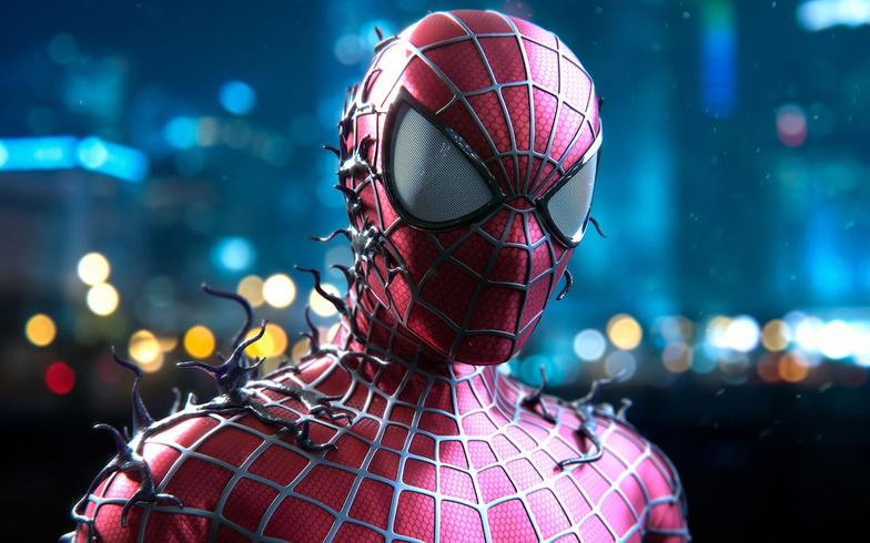 spider man, cg design, venom, dark