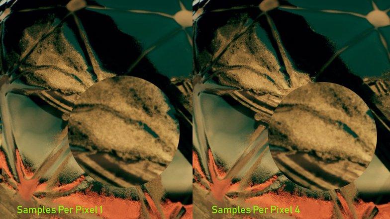 reflection control sample per pixel