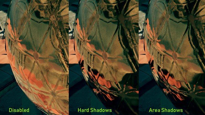 reflection shadows comparison