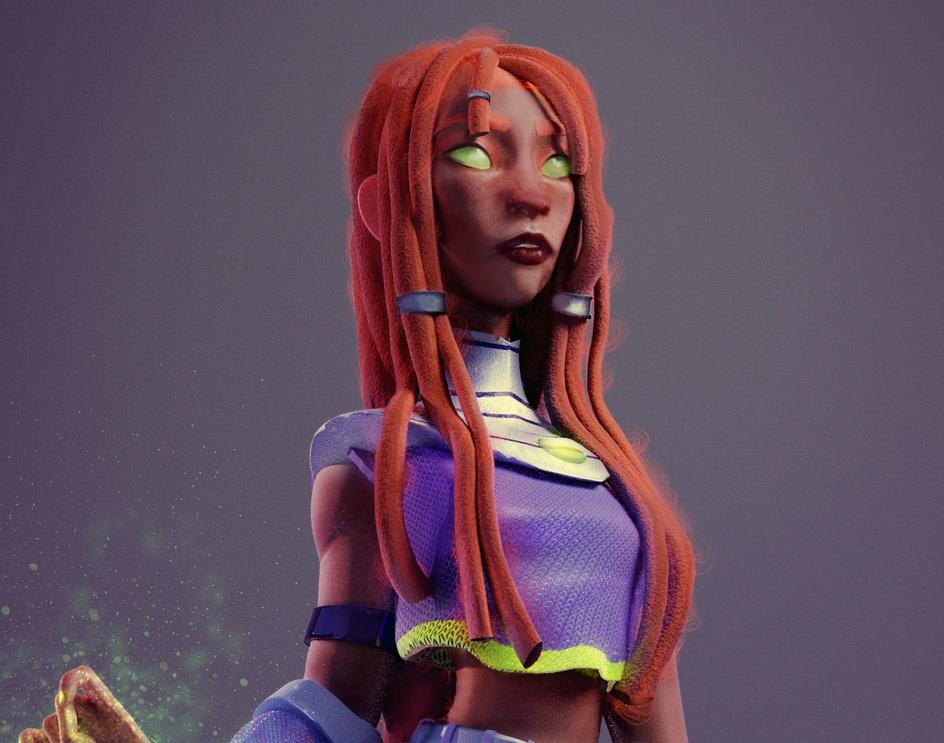 Starfire - Teen Titansby jhonatan lechar