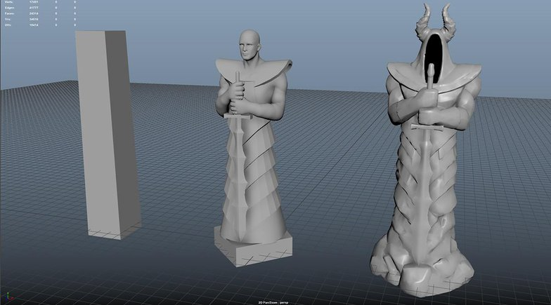 character design robed man