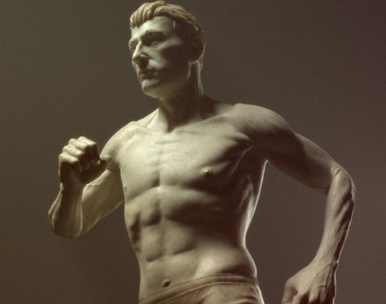 Male runner statueby Stavros3d