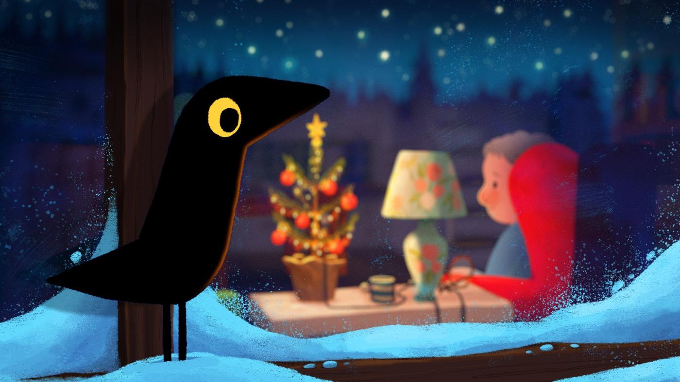 christmas cozy 2d illustration digital art