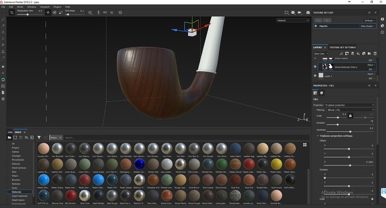 Texturing and shading assets using Substance Painter