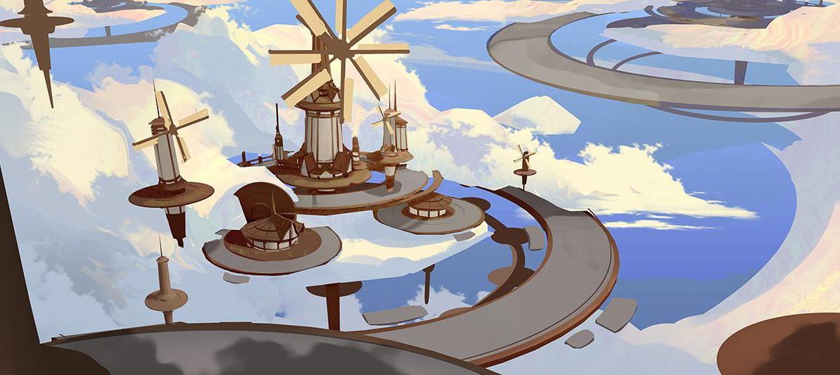 windmill in the sky design