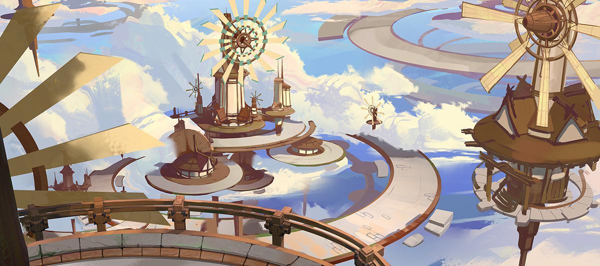 fantastical 2d illustration design
