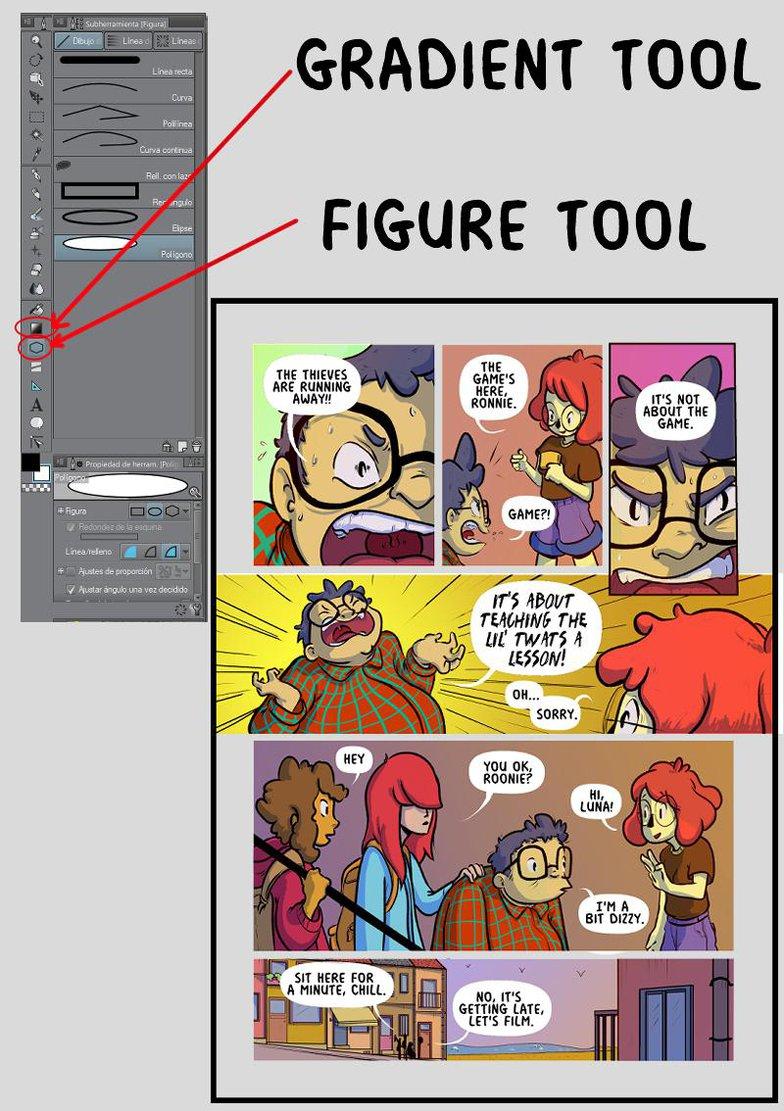clip studio paint comic lettering details