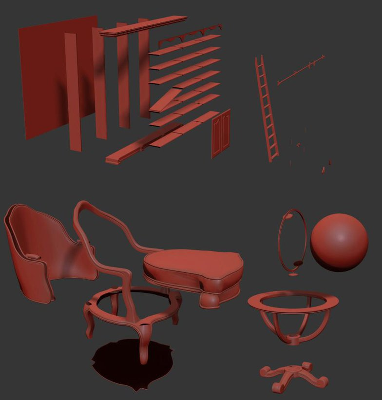 3ds max v ray  furniture texture set