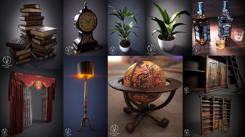 i render substance painter furniture models