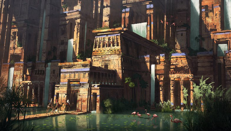 Egyptian water temple