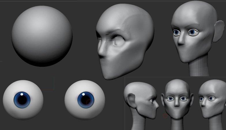 3d modelling basic head shape