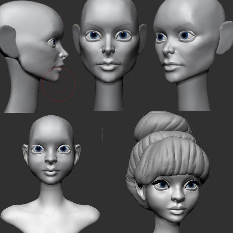 head shapes 3d models zbrush