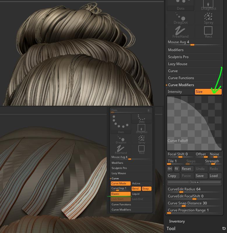 topological brush 3d modelling hair
