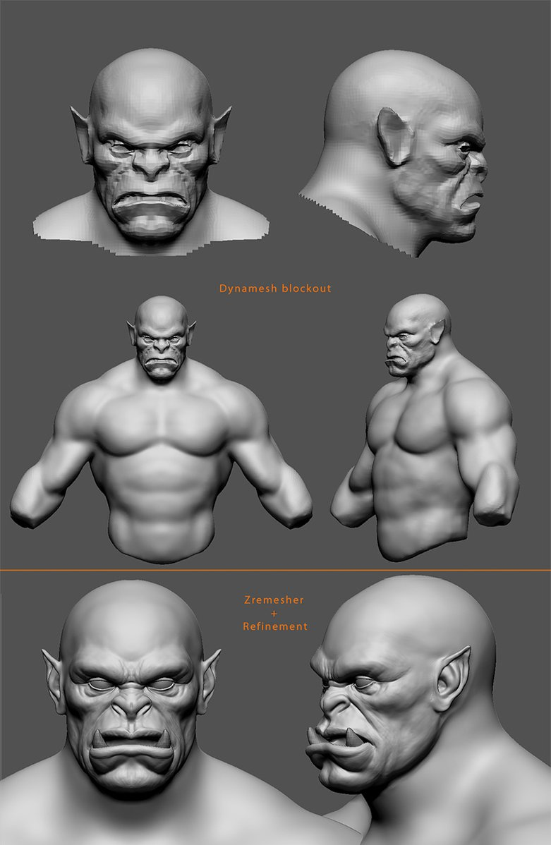 Sculpt & Texture a Fearsome Orc · 3dtotal · Learn | Create