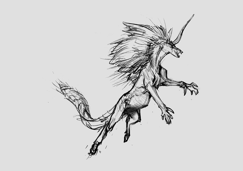 sketching unicorn design