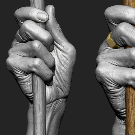 Sculpting an old man in ZBrush · 3dtotal · Learn | Create | Share