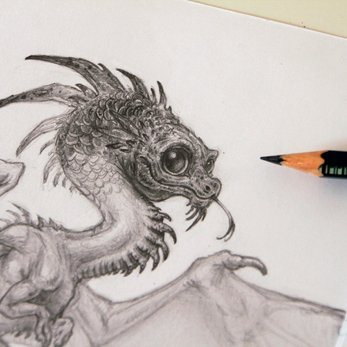 Drawing A Tiny Dragon 3dtotal Learn Create Share